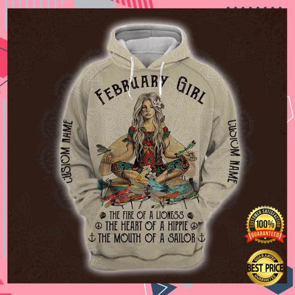 Yoga Ferbruary Girl He Fire Of A Lioness The Heart Of A Hippie The Mouth Of A Sailor All Over Printed 3d Hoodie 3