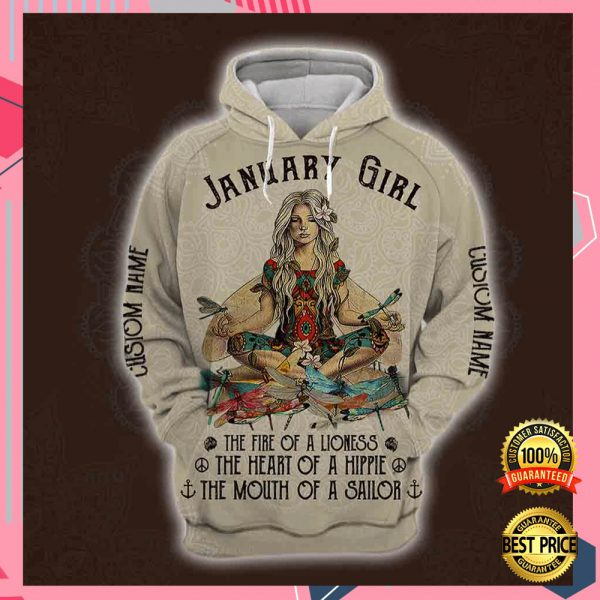 Yoga January Girl He Fire Of A Lioness The Heart Of A Hippie The Mouth Of A Sailor All Over Printed 3d Hoodie 3