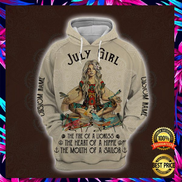 Yoga July Girl He Fire Of A Lioness The Heart Of A Hippie The Mouth Of A Sailor All Over Printed 3d Hoodie 3
