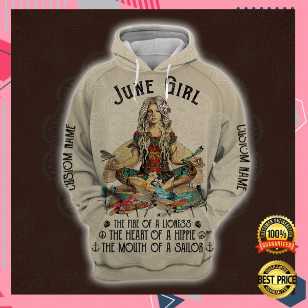 Yoga June Girl He Fire Of A Lioness The Heart Of A Hippie The Mouth Of A Sailor All Over Printed 3d Hoodie 3