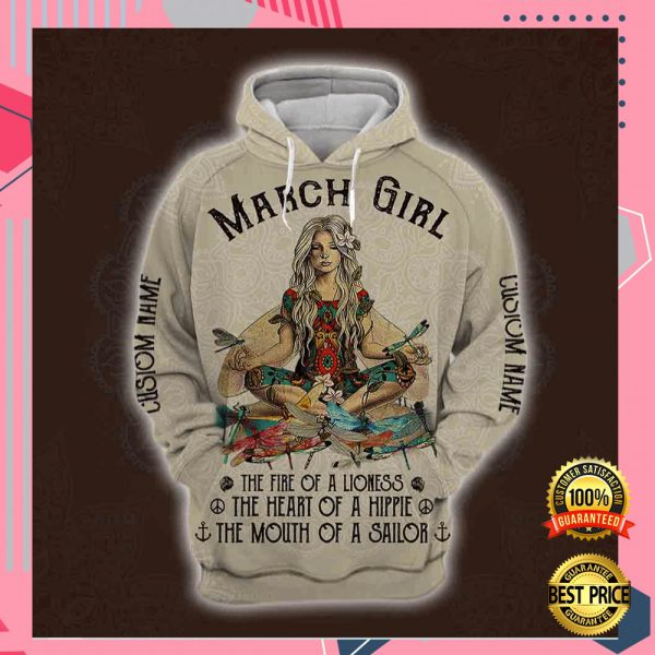 Yoga March Girl He Fire Of A Lioness The Heart Of A Hippie The Mouth Of A Sailor All Over Printed 3d Hoodie 3
