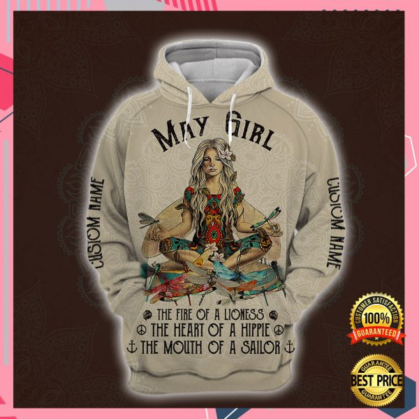 Yoga May Girl He Fire Of A Lioness The Heart Of A Hippie The Mouth Of A Sailor All Over Printed 3d Hoodie 3