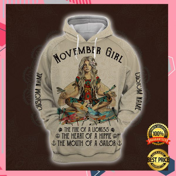 Yoga November Girl He Fire Of A Lioness The Heart Of A Hippie The Mouth Of A Sailor All Over Printed 3d Hoodie 3