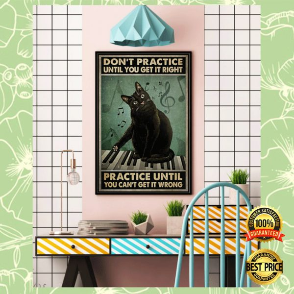 Cat Don't Practice Until You Get It Right Practice Until You Can't Get It Wrong Poster 3