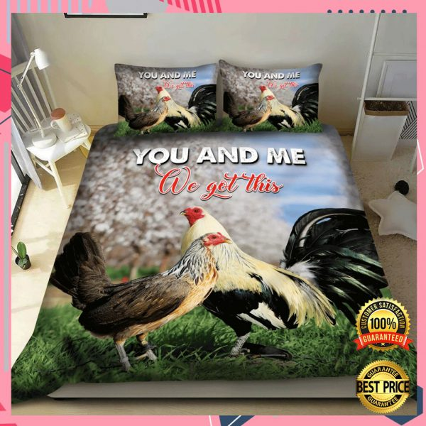 CHICKEN YOU AND ME WE GOT THIS BEDDING SET 3