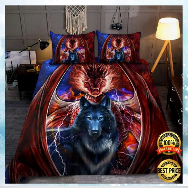 DRAGON AND WOLF BEDDING SET 3