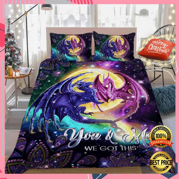 DRAGON YOU AND ME WE GOT THIS BEDDING SET 3