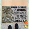 MUFF DIVERS UNION GOING DOWN IN SEARCH OF THE PEARL DOORMAT 1