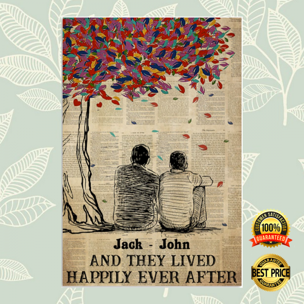 Personalized LGBT and they lived happily ever after poster 3