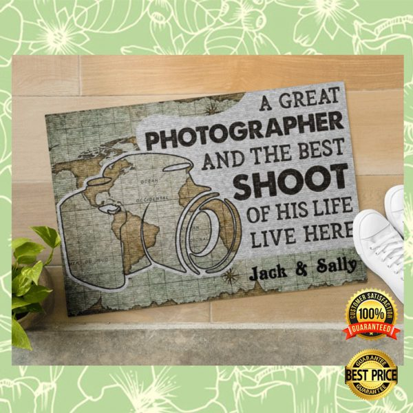 PERSONALIZED A GREAT PHOTOGRAPHER AND THE BEST SHOOT OF HIS LIFE LIVE HERE DOORMAT 3