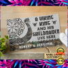 Personalized a viking and his shieldmaiden live here doormat 1