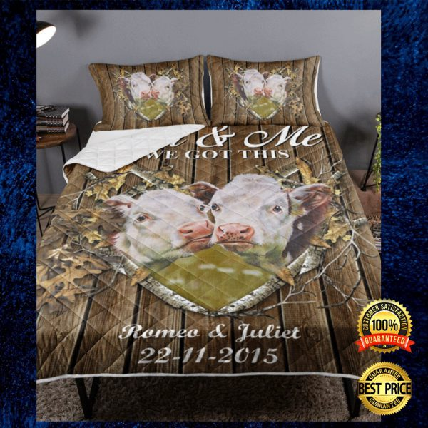 Personalized Cow Couple You And Me We Got This Bedding Set 3