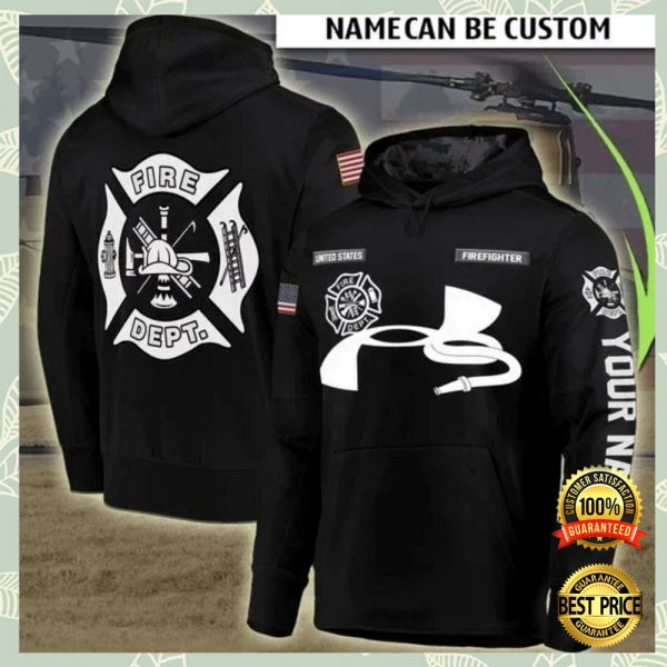 PERSONALIZED FIRE DEPT ALL OVER PRINTED 3D HOODIE 3