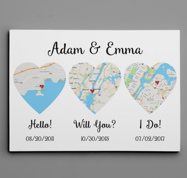 PERSONALIZED HELLO WILL YOU I DO CANVAS 3