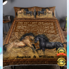 PERSONALIZED HORSE THE DAY I MET YOU BEDDING SET 2
