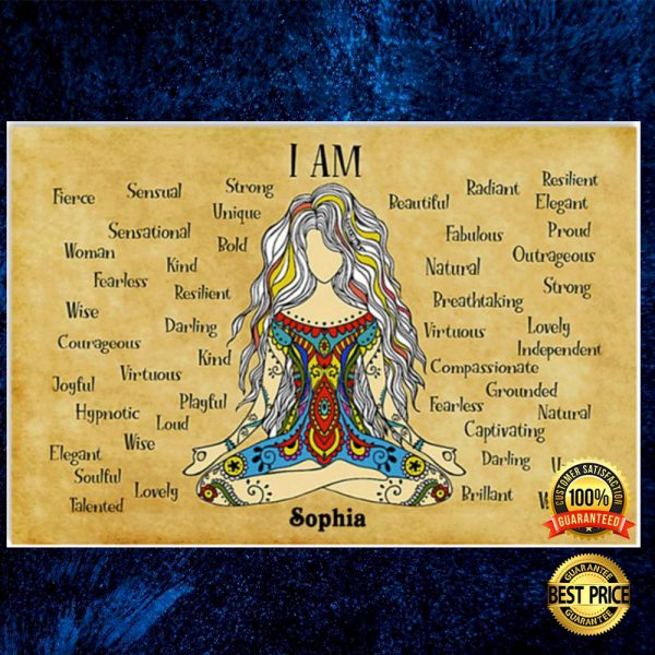 Personalized namaste girl i am strong unique poster 3