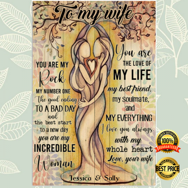 Personalized to my wife you are my rock my number one poster 3