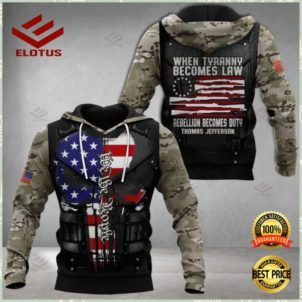 PERSONALIZED WHEN TYRANNY BECOMES LAW REBELLION BECOMES DUTY ALL OVER PRINTED 3D HOODIE 3