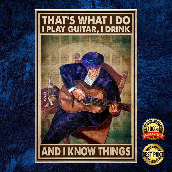 That's what i do i playing guitar i drink and i know things poster 3