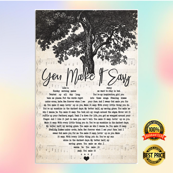 You make it eassy heart song lyric poster 3