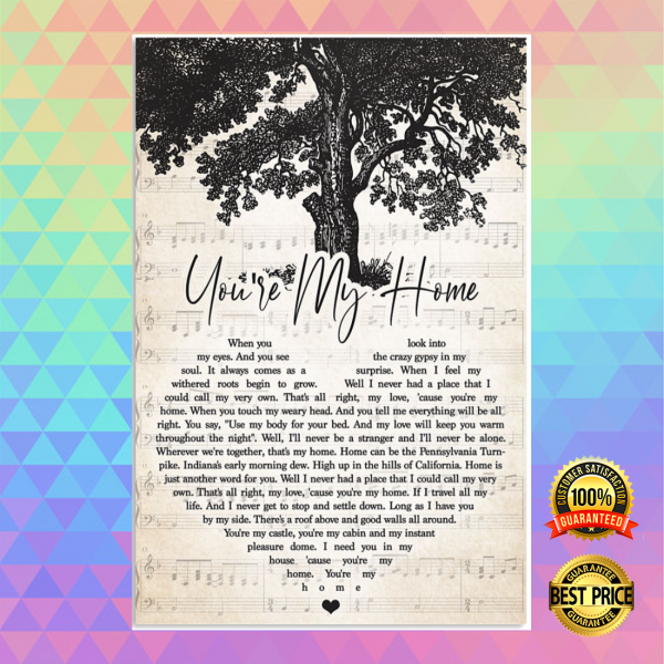 You're my home heart song lyric poster 3