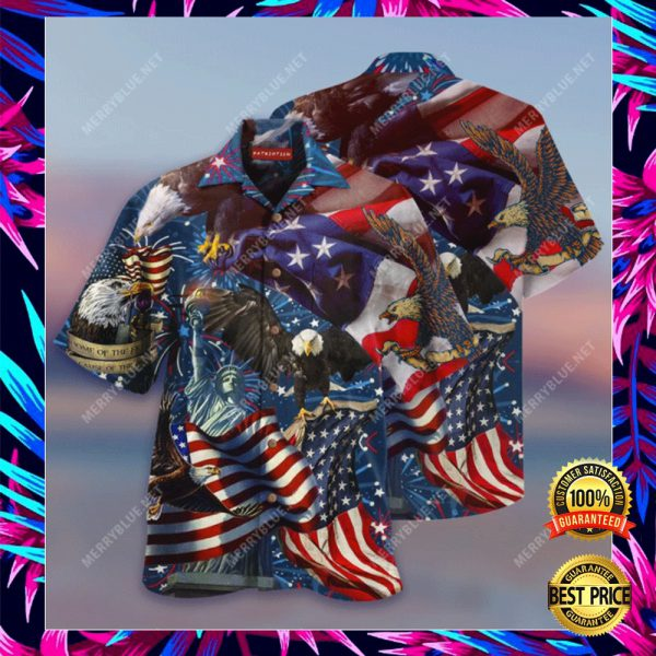 AMERICAN PATRIOTIC EAGLE HAWAIIAN SHIRT 3