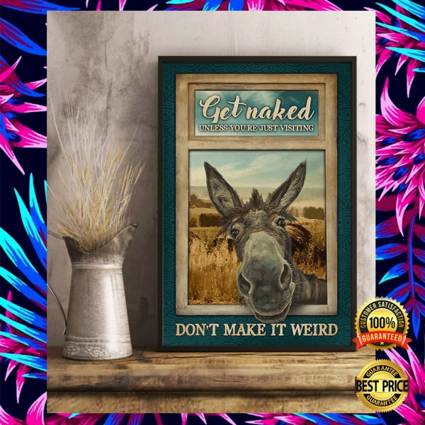DONKEY GET NAKED UNLESS YOU ARE JUST VISITING DON'T MAKE IT WEIRD POSTER 3