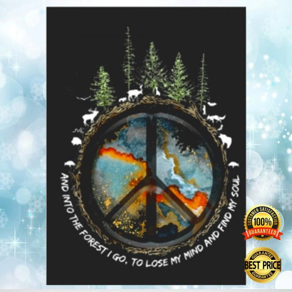 HIPPIE AND INTO THE FOREST I GO TO LOSE MY MIND AND FIND MY SOUL STICKER 3