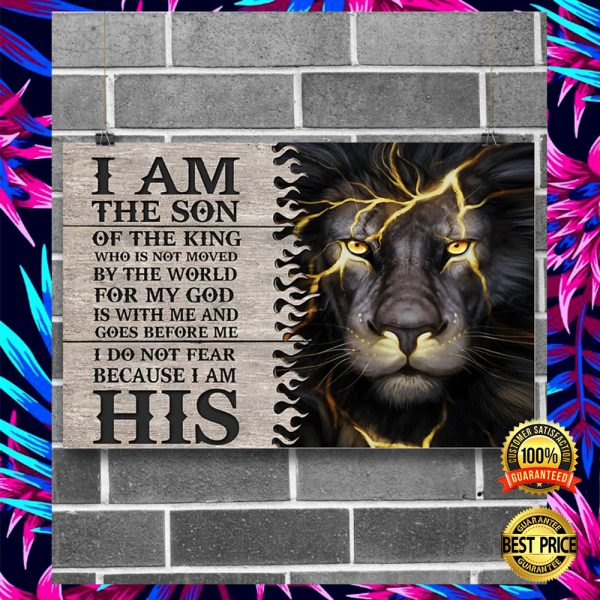 LION I AM THE SON OF THE KING POSTER 2