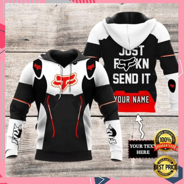 PERSONALIZED FOX RACING JUST FUCKING SEND IT ALL OVER PRINTED 3D HOODIE 3