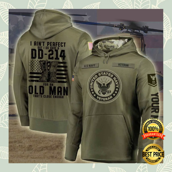 PERSONALIZED US NAVY A VETERAN IS SOMEONE WHO AT ONE POINT IN THEIR LIFE ALL OVER PRINTED 3D HOODIE 3