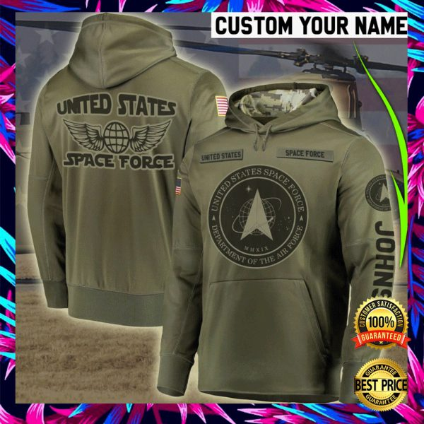 PERSONALIZED US SPACE FORCE ALL OVER PRINTED 3D HOODIE 3