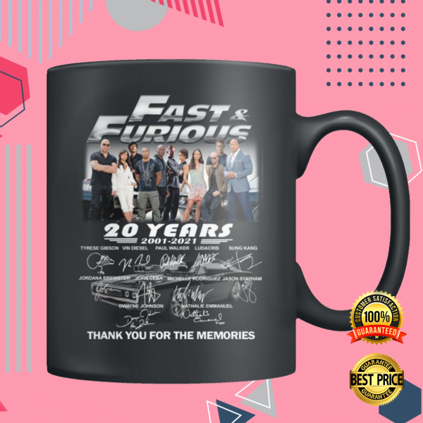 20 YEARS OF FAST AND FURIOUS MUG 3
