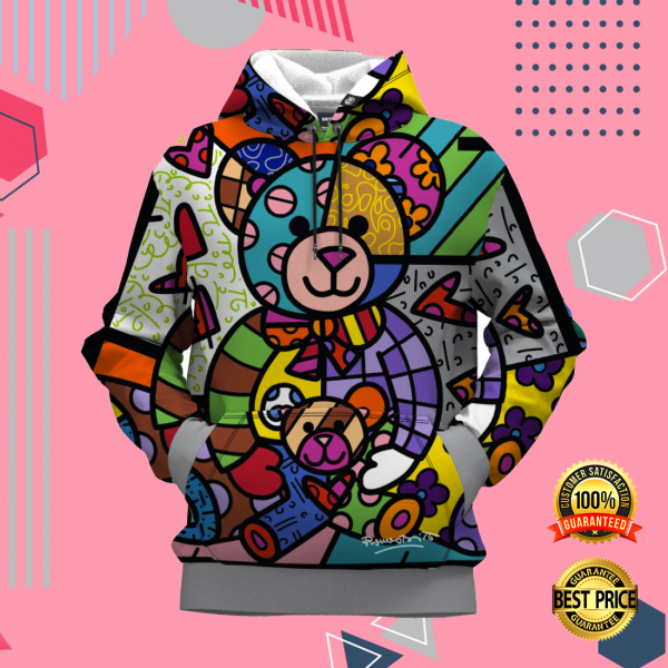 BEAR FAMILY BY ROMERO BRITTO ALL OVER PRINTED 3D HOODIE 3