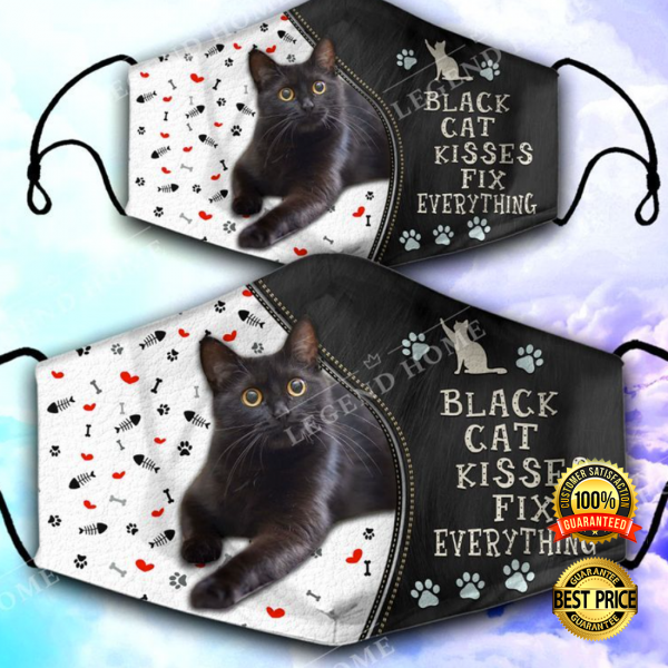 BLACK CAT KISSES FIX EVERYTHING FACE MASK 3