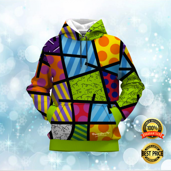 COLOR LANDSCAPE BY ROMERO BRITTO ALL OVER PRINTED 3D HOODIE 3