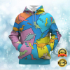 DINOSAUR BY ROMERO BRITTO ALL OVER PRINTED 3D HOODIE 1