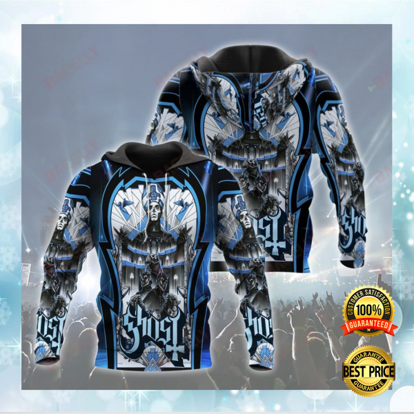GHOST ALL OVER PRINT 3D HOODIE 3