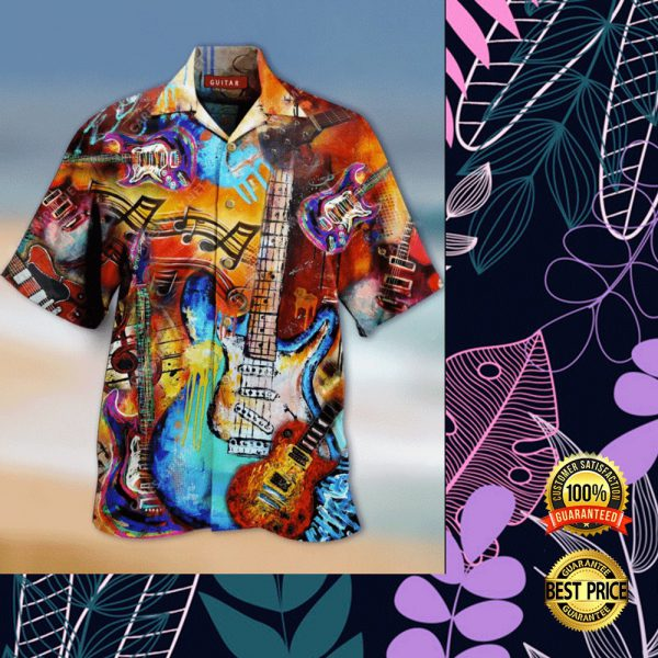 GUITAR VINTAGE HAWAIIAN SHIRT 3