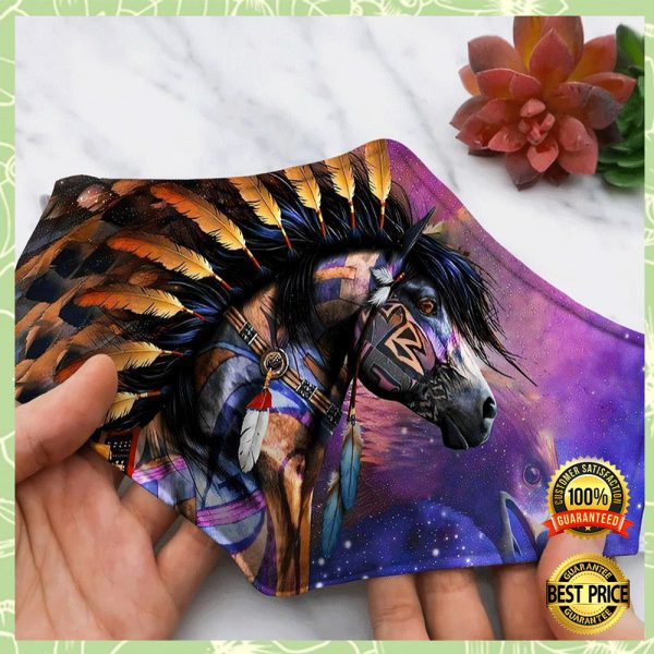 HORSE NATIVE AMERICAN FACE MASK 3