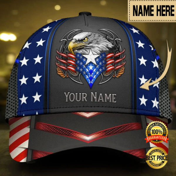 PERSONALIZED EAGLE PROUD AMERICAN CAP 3