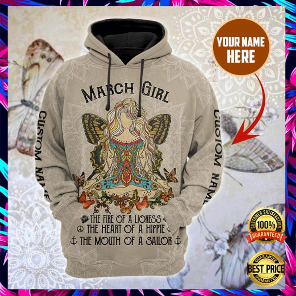 PERSONALIZED NAMASTE MARCH GIRL ALL OVER PRINTED 3D HOODIE 3
