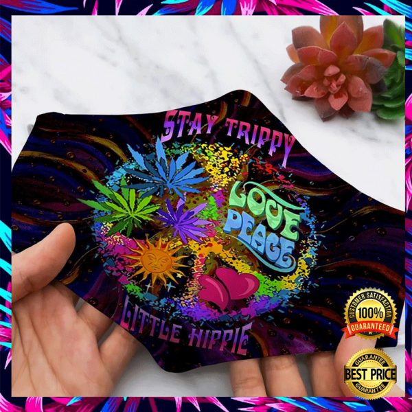 STAY TRIPPY LOVE PEACE LITTLE HIPPIE FACE MASK 3