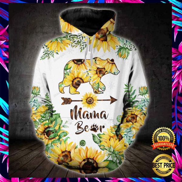 SUNFLOWER MAMA BEAR ALL OVER PRINT 3D HOODIE AND LEGGING 3