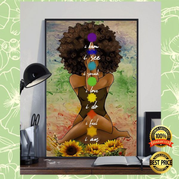 YOGA AFRICAN AMERICAN I KNOW I SEE I SPEAK POSTER 3
