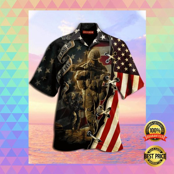 AMERICA LAND OF THE FREE HAWAIIAN SHIRT 3