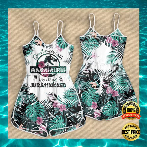 DON'T MESS WITH MAMASAURUS YOU'LL GET JURASSKICKED ROMPER 3