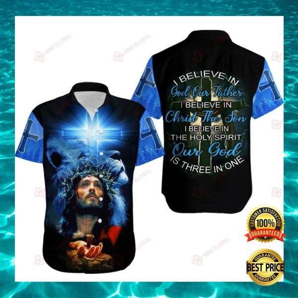 I BELIEVE IN GOD OUR FATHER I BELIEVE IN CHRIST THE SON HAWAIIAN SHIRT 3