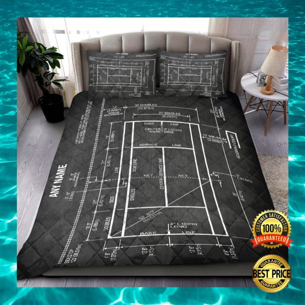 PERSONALIZED TENNIS COURT BEDDING SET 3