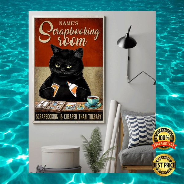 PERSONALIZED BLACK CAT SCRAPBOOKING ROOM POSTER 3